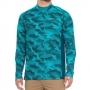 Худи Simms SolarFlex Print Shirt UPF 50+ (L) Hex Camo Cobalt