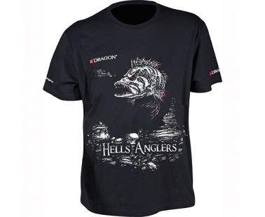 Футболка Dragon Hells Anglers Окунь Черная PGD-TS-24