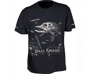 Футболка Dragon Hells Anglers Щука Черная PGD-TS-25