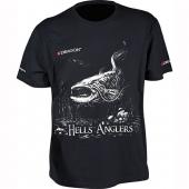 Футболка Dragon Hells Anglers Сом Черная PGD-TS-27