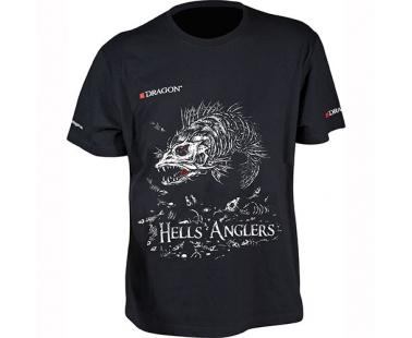 Футболка Dragon Hells Anglers Судак Черная PGD-TS-26