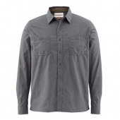 Simms Black's Ford Solid Flannel Shirt