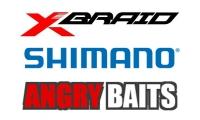 Новые шнуры X-Braid, поступление катушек 20 Twin Power и силикон Angry Baits