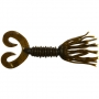 Силикон Big Bite Baits Double Tail Skirted Grub 5 #Green Pumpkin -1шт