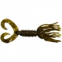 Силикон Big Bite Baits Double Tail Skirted Grub 5 #Green Pumpkin Cooper Flake -1шт