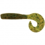 Силикон Big Bite Baits Finesse Grub 4 #Pump. Pepper Green -1шт