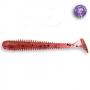 Силикон Crazy Fish Vibro Worm 2 #13 Purple pepper