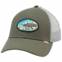 Кепка Simms Salmon Fly Patch Trucker #Olive