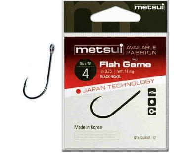 Крючки с большим ушком Metsui Fish Game