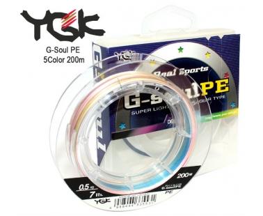 Шнур YGK G-Soul PE 5 Color 200m