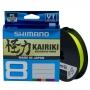 Шнур Shimano Kairiki 8 PE 150м 0.19мм Yellow