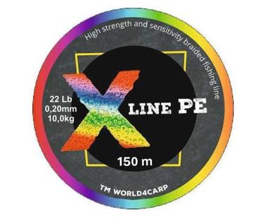 Шнур World4Carp X Line PE Multicolor