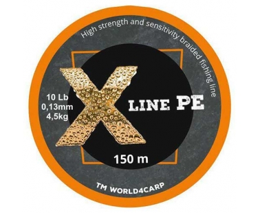 Шнур World4Carp X Line PE Оранжевый