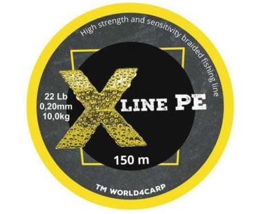 Шнур World4Carp X Line PE Желтый